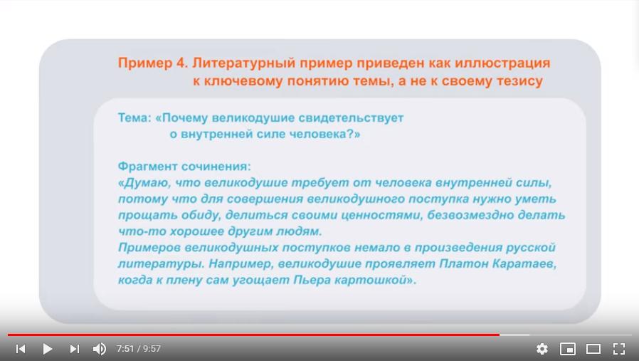 Видеорекомендации от ФИПИ для написания итогового сочинения