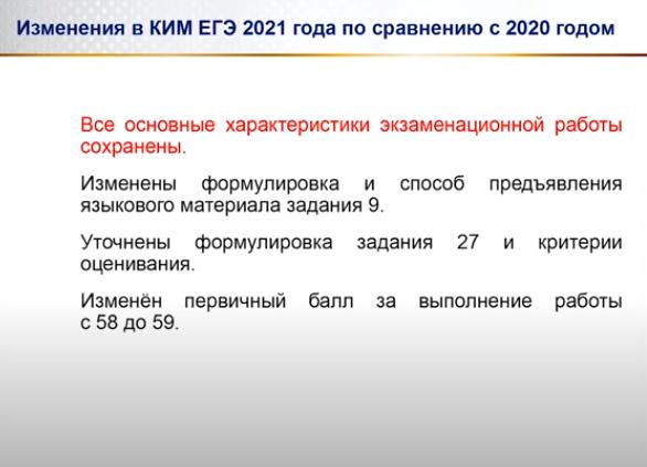 I P Cybulko Ob Izmeneniyah V Ege 2021 Po Ushi V Oge I Ege